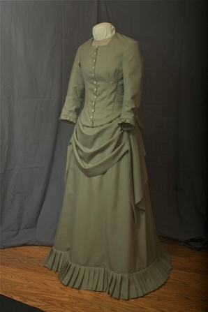Bustle dress for the cover of the book <em>Walks Alone</em> by Sandi Rog