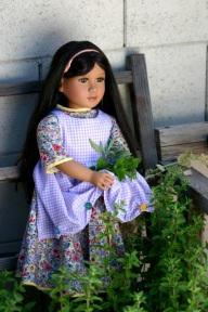 "My Twinn ""Katherine"" dress and apron detail"